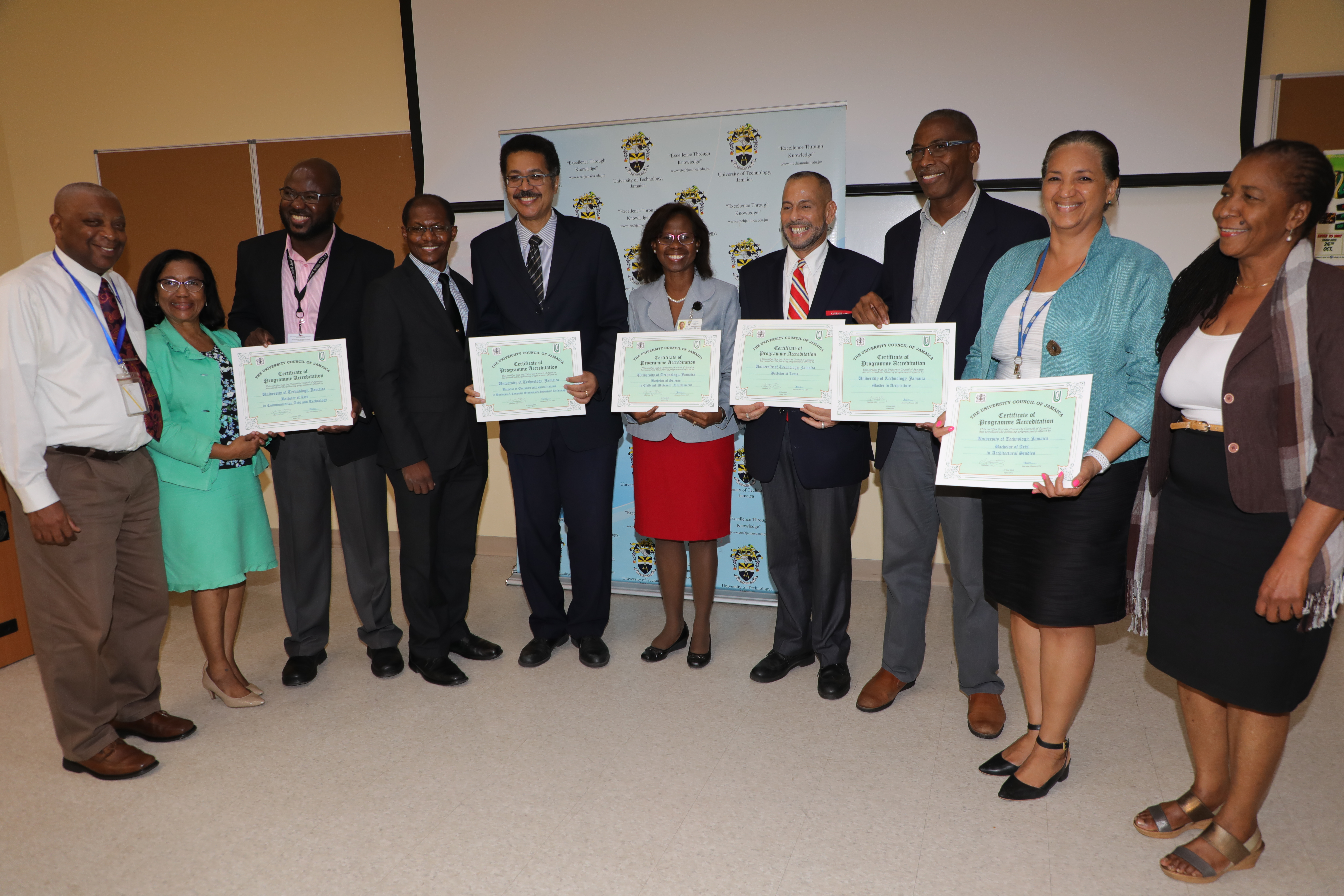 UTech, Ja. President Hands Over UCJ Certificates of Accreditation to Faculties